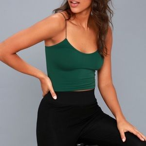Free People forest green brami